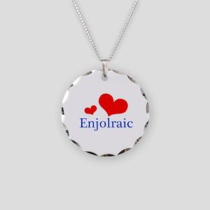 Enjolraic Necklace Circle Charm