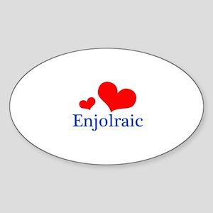 Enjolraic Sticker (Oval)
