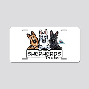 German Shepherd Fan Aluminum License Plate