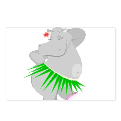 Hula Hippo Postcards (Package of 8)