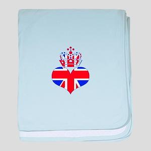 heart & crown (union jack) baby blanket