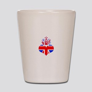 heart & crown (union jack) Shot Glass