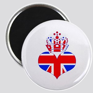 heart & crown (union jack) Magnet