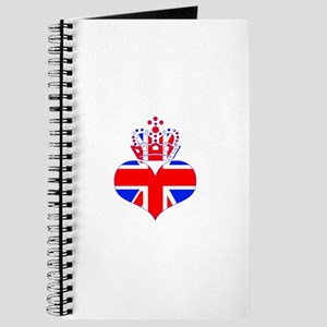 heart & crown (union jack) Journal
