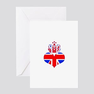 heart & crown (union jack) Greeting Card