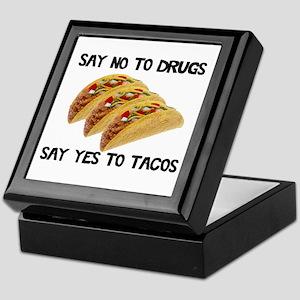 Funny Drugs Tacos Keepsake Box
