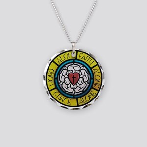 Luther's Solas - Reformed Necklace Circle Charm