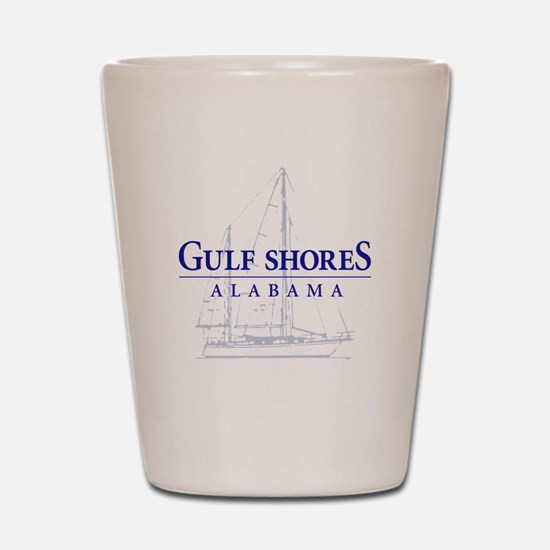 Gulf Shores Sailboat - Shot Glass