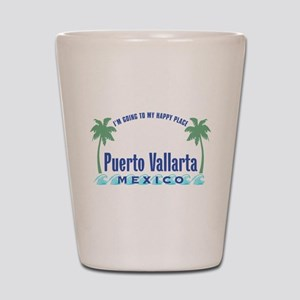 Puerto Vallarta Happy Place - Shot Glass