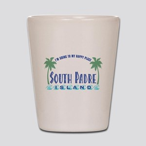 South Padre Happy Place - Shot Glass