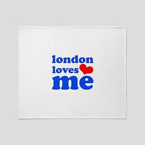 london loves me (blue/red) Throw Blanket