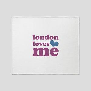 london loves me (purple/blue) Throw Blanket