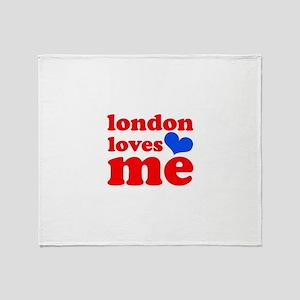 london loves me (red/blue) Throw Blanket