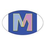 M is for Marriage Sticker (Oval 50 pk)