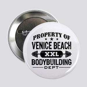 "Property Of Venice Beach Bodybuilding 2.25"" Button"