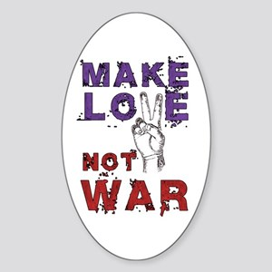 Make Love not War Sticker (Oval)