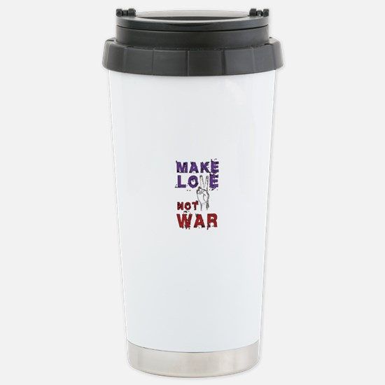 Make Love not War Stainless Steel Travel Mug