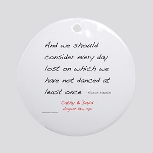 Nietzsche1 Custom Ornament (Round)