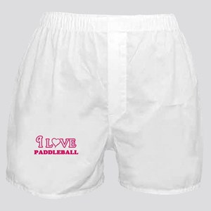 I Love Paddleball Boxer Shorts
