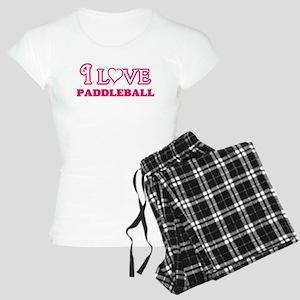 I Love Paddleball Pajamas