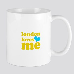 london loves me (yellow/blue) Mug