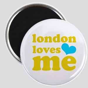 london loves me (yellow/blue) Magnet