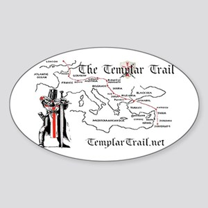 TempleTrail.net Sticker (Oval)