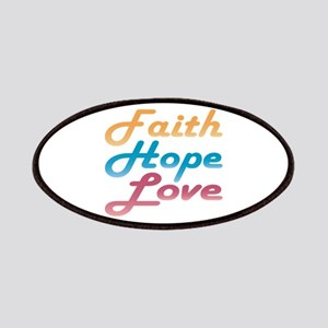 Faith Hope Love Patches