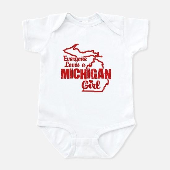 Everyone Loves a Michigan Girl Infant Bodysuit