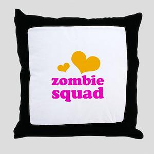 zombie squad (orange/pink) Throw Pillow