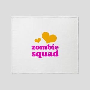 zombie squad (orange/pink) Throw Blanket
