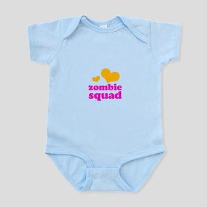 zombie squad (orange/pink) Infant Bodysuit