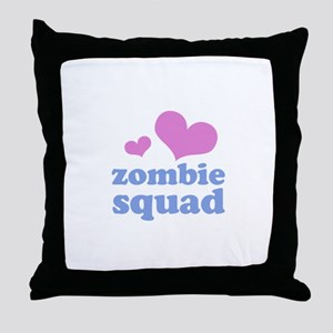zombie squad (pink/blue) Throw Pillow