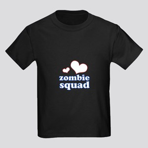 zombie squad (white/red/blue) Kids Dark T-Shirt