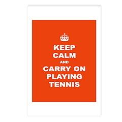 Keep Calm Tennis Postcards (package Of 8)
