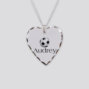 Audrey Soccer Necklace Heart Charm