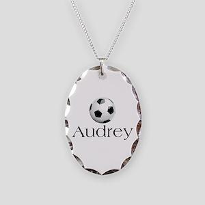 Audrey Soccer Necklace Oval Charm