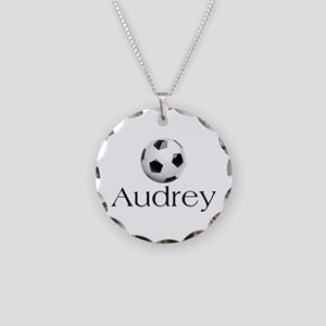 Audrey Soccer Necklace Circle Charm