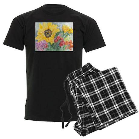 Courtney's Sunflower Men's Dark Pajamas