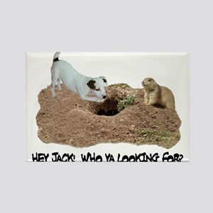 JACK RUSSELL AND PRAIRIE DOG Rectangle Magnet