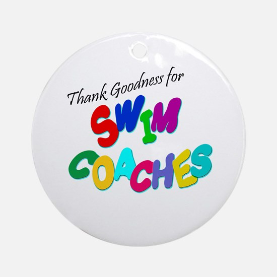 Swim Coaches Ornament (Round)