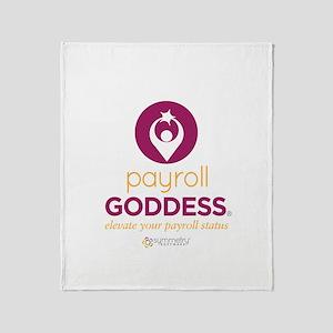 Payroll Goddess Gear Throw Blanket