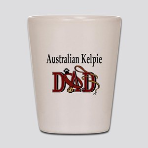 Australian Kelpie Dad Shot Glass
