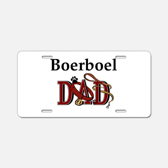 Boerboel Dad Aluminum License Plate