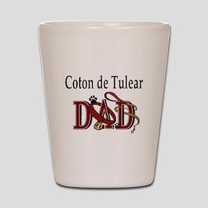 Coton de Tulear Dad Shot Glass