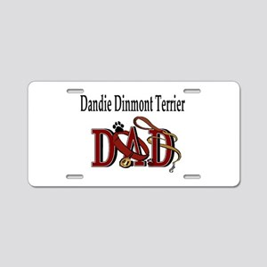 Dandie Dinmont Dad Aluminum License Plate