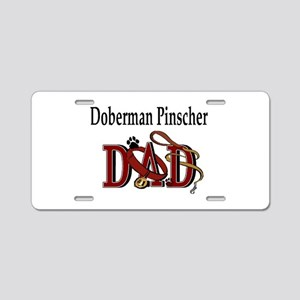 Doberman Pinscher Dad Aluminum License Plate