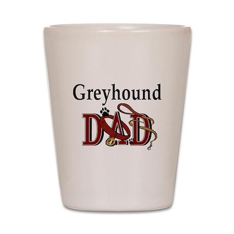 Greyhound Dad Shot Glass