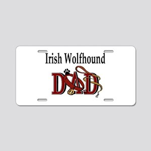 Irish Wolfhound Dad Aluminum License Plate