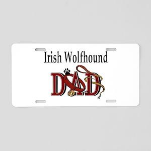 Irish Wolfhound Dad Aluminum License Plate